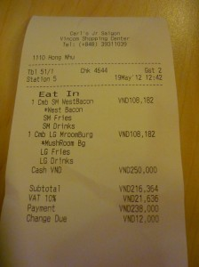 Carl Jr's: fastfood in Saigon